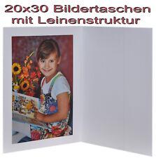 5x Portraitmappe / Leporello / Bildermappe für 20x30 mit Seitentasche in weiss