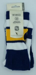 NHL Buffalo Sabres CCM Men's Team Logo Crew Socks NEW!