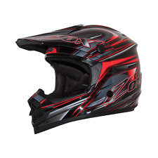 ZOX RUSH C TRYST MOTORCYCLE ATV UTV HELMET SIL/RED/BLACK MEDIUM MD M DOT SNELL