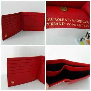 Rolex Wallet Card Holder - Authentic Rolex Burgundy Red VG CONDITION See Photos