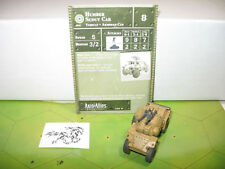 Axis & Allies 1939-1945 Humber Scout Car with card 2/60