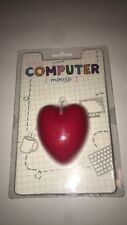 Red Love Heart Shape USB PC Computer Wired Optical Mouse **US SELLER**