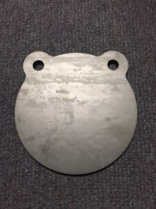 """Steel A36 22cal Target Gong 8"""" x 3/16"""" Double Hole Plate IDPA! 2 Pieces! USA!"""