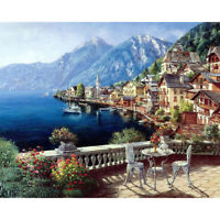 Hot!Landscape Frameless Hand Painted By Numbers Oil Canvas Paintings Art Crafts