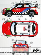STUDIO 27 MINI JOHN COOPER WORKS WRC #37 #52 2012 for HASEGAWA 1/24