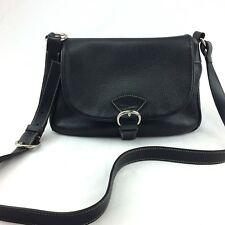 Vintage DOONEY AND BOURKE Black All Weather Leather Crossbody Bag/ Purse