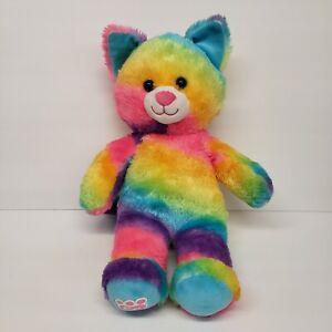 """Build a Bear 15"""" Rainbow Condo Cubs Kitty Cat HTF 2018 Plush"""