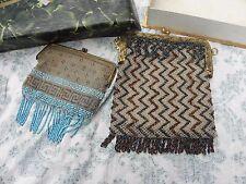 lot de sac du soir 1900-1930,art deco ravissant ,brodé de perle