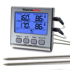 ThermoPro TP17 Digital Meat Thermometer With Timer For Smoker, Grill, Oven, BBQ