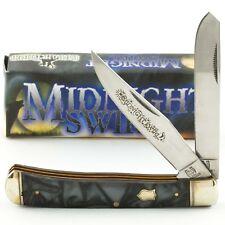 ROUGH RIDER Midnight Swirl Handles TRAPPER Pocket Knife #966 2 Folding Blade
