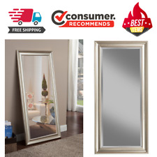 Floor Mirror Large Full Length Leaning Wall Leaner Home Bedroom Champagne Silver