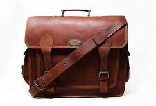 Gift For Him Leather Handbag Briefcase Portfolio Laptop Shoulder Bag Messenger