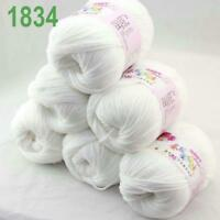 Sale lot 6 Skeins x50g Cashmere Silk Wool Children Hand Knitting Crochet Yarn 34