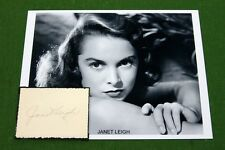 Janet Leigh Autograph Psycho Alfred Hitchcock Little Women Tony Curtis Houdini