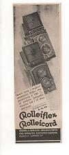 Pubblicità vintage 1935 REFLEX ROLLEIFLEX CAMERA FOTO advert werbung publicitè