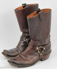 Vintage DAN DINO Motorcycle Biker Engineer HARNESS Boots BROWN Mens 8