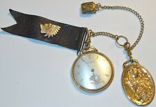 "BULOVA Antique 1-3/4"" 17J POCKET WATCH w/GF CASE~CHAIN~ORDER of REDMEN FOB #1!"