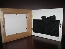 11x14 Red Oak Hide a Gun Concealment Frame (Black Matting)