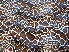 Animal Print faux Fur/Velour velboa Fabric/Material - Baby Giraffe