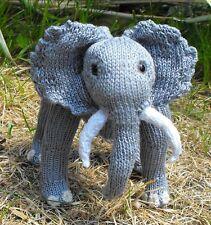 PRINTED KNITTING INSTRUCTIONS-- BABY ELVIS TOY ELEPHANT ANIMAL  KNITTING PATTERN