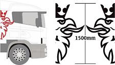 scania truck griffin 2x extra large 1500mm high logos, in any colour, cab sides