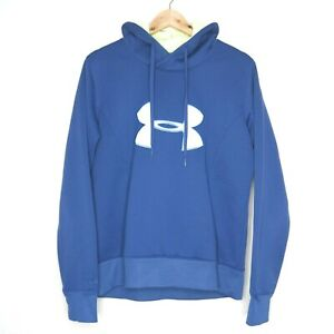 Under Armour Semi-Fitted Logo Graphic Mens Hoodie Size Large Blue