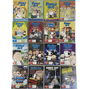 16x Family Guy DVDs Seasons 1-11 + 15, 16, Dark Side, Blue Harvest & North Pole