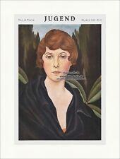 Page de titre du numéro 51 de 1926 Christian polluant femme portrait jeunesse 4526