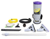Proteam Super QuarterVac Commercial Backpack Vacuum Cleaner with Pro Blade Kit