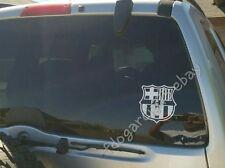 "Barcelona Barca Cut Decal Sticker Blanco 5X5"" Calca"