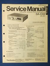 TECHNICS SA-C02 RECEIVER SERVICE MANUAL ORIGINAL FACTORY ISSUE THE REAL THING