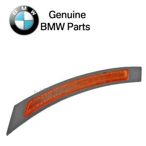 For BMW E60 E61 528i 528xi Front Passenger Right Reflector-Bumper Cover Yellow