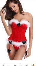 Sexy miss santa corset with suspenders. BNWT 10 12 14 16