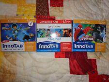 Lot OF 3 VTECH INNOTAB GAME CARTRIDGES Miles * Pixar Play * Ultimate Spider-man