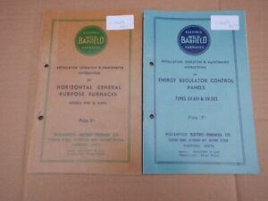 2 WILD BARFIELD FURNACE INSTRUCTION MANUALS