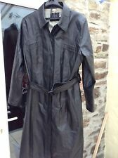 long black pvc coat 18 20 Leather Look very good condition 46 Chest 44 Long