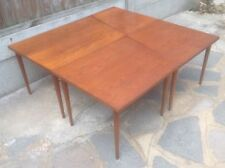 Teak Nested Tables with 4 Pieces