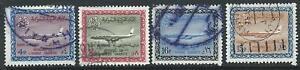 Saudi Arabia 1964 Air King Saud Cartouche Boeing 720-B 4 Good Used Stamps