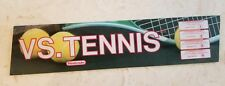 Original Vs. Tennis by Nintendo Marquee Glass Header Sign Arcade Coin Op Video