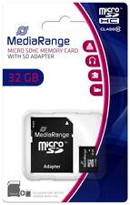 Mediarange Micro SDHC Karte 32GB Speicherkarte Class 10