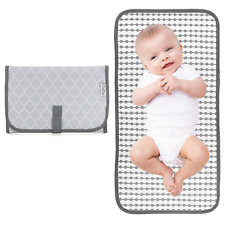 Baby Portable Changing Pad, Travel Mat Station, Grey, Compact