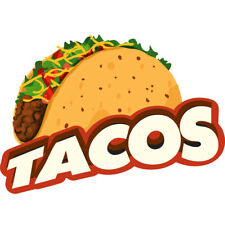 Tacos Concession Decal Sign Cart Trailer Stand Sticker Equipment