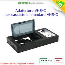 ADATTATORE VHS-C QUESTO ADATTATORE PERMETTE LA REGISTRAZIONE E/O RIPRODUZIONE CO