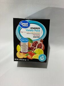 Great Value Sugar Free, Low Calorie 40ct ENERGY Variety Pack Free Shipping!!!