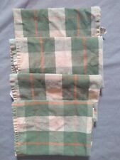 New listing Pier 1 Imports Placemats Fabric green orange Plaid 16.5� x 18� Set Of 4