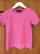 Mini Boden Lovely Girlies Pink T Shirt Age 7-8yrs 100% Cotton