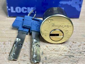 MUL-T-LOCK Interactive High-Security Rim Cylinder w/ 2 Keys NIB - Locksport