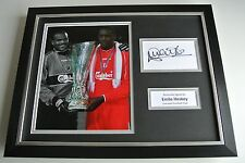 Emile Heskey SIGNED FRAMED Photo Autograph 16x12 display Liverpool Football COA