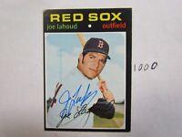 1971 Topps Joe Lahoud Autographed Signed Baseball Card