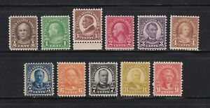 United States stamps #551 - 561, all MNHOG with XF issues, SCV $387.00